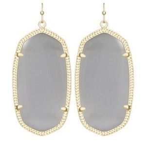 Kendra Scott grey drop earrings